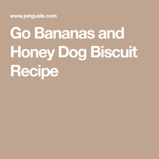 Go Bananas and Honey Dog Biscuit Recipe