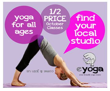 eyoga advert clean and simple