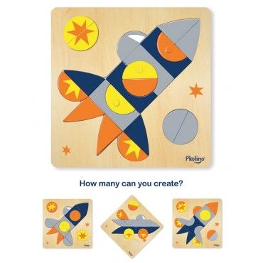 Multi-Solution Puzzle: Space Ship