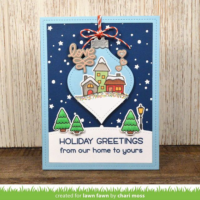 Winter Village Card by Chari!