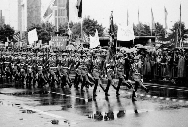 East German Army On Parade
