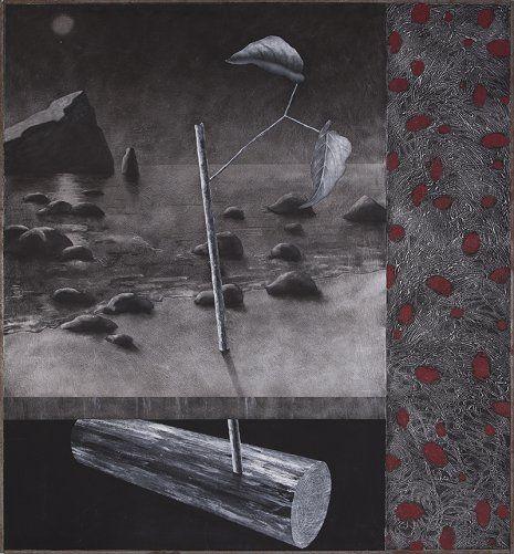 Sin título, 1989. Técnica mixta sobre tabla, 144x134 cm Fernando Bermejo