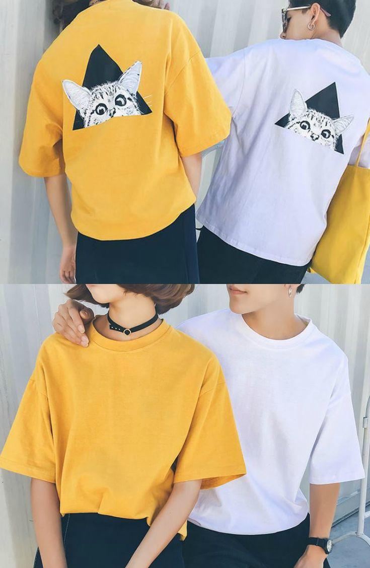 Bonne Nuit - Couple Short-Sleeve Printed T-Shirt #couplefashion