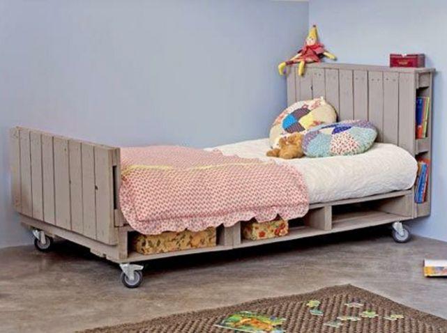 Les 25 meilleures id es de la cat gorie t te de lit violet for Chambre enfant palette