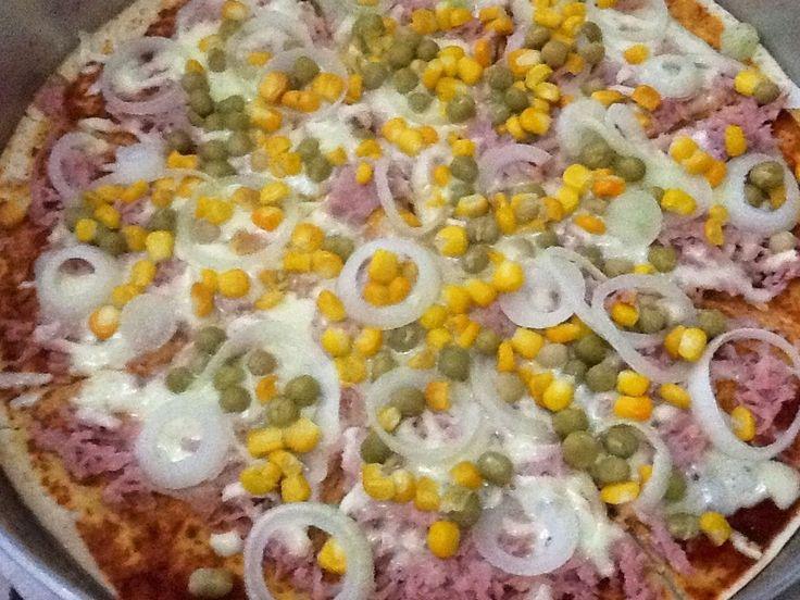 Receita de Pizza de liquidificador fácil.