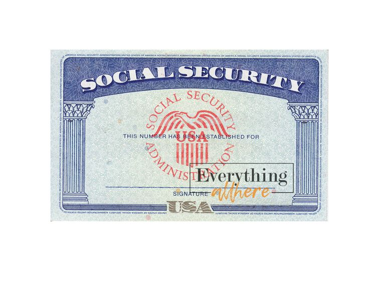 Blank social security number psd template in 2020
