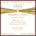 Your guests will love this personalized, gold and white 90th birthday party invitation with faux gold embellishments.  Simple yet festive, the elegant, chic, classic, classy 90th birthday party invitation is is a fitting way to celebrate your guest of honor's ninetieth birthday with style that is traditional with a hint of modern, contemporary style. You easily personalize this 90th birthday party invitation by filling in the given templates.  90th birthdays are meant to be celebrated.  W...