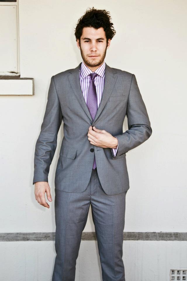 Slim Shirt- $99.99  Slim Tie- $49.99  Grey Super Slim Suit- $399.99  SUMMER STYLE