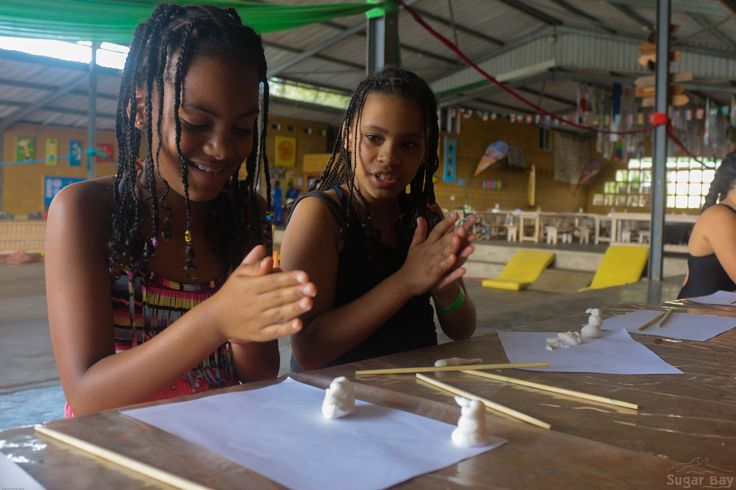 Carly & Logan from Durban Christian Centre school making figurines using mouldable icing. The girls were inspired by the Disney movie Frozen, and decided to create their own mini snowman, just like Olaf from the movie itself.