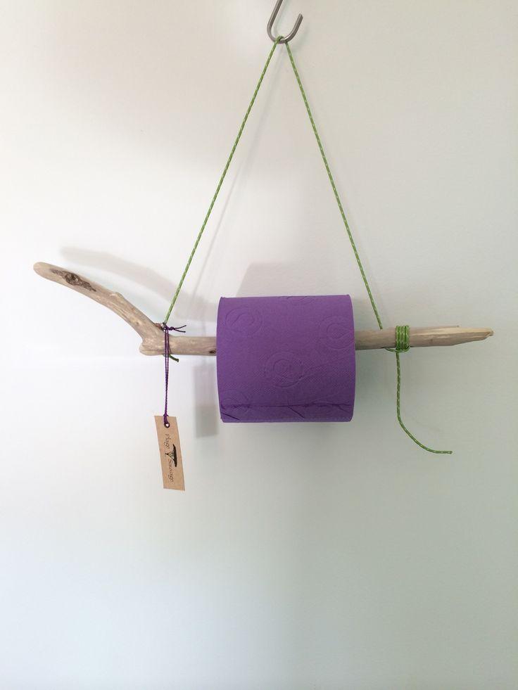 d rouleur papier toilette en bois flott plage sauvage pampelonne vert violet violettes. Black Bedroom Furniture Sets. Home Design Ideas