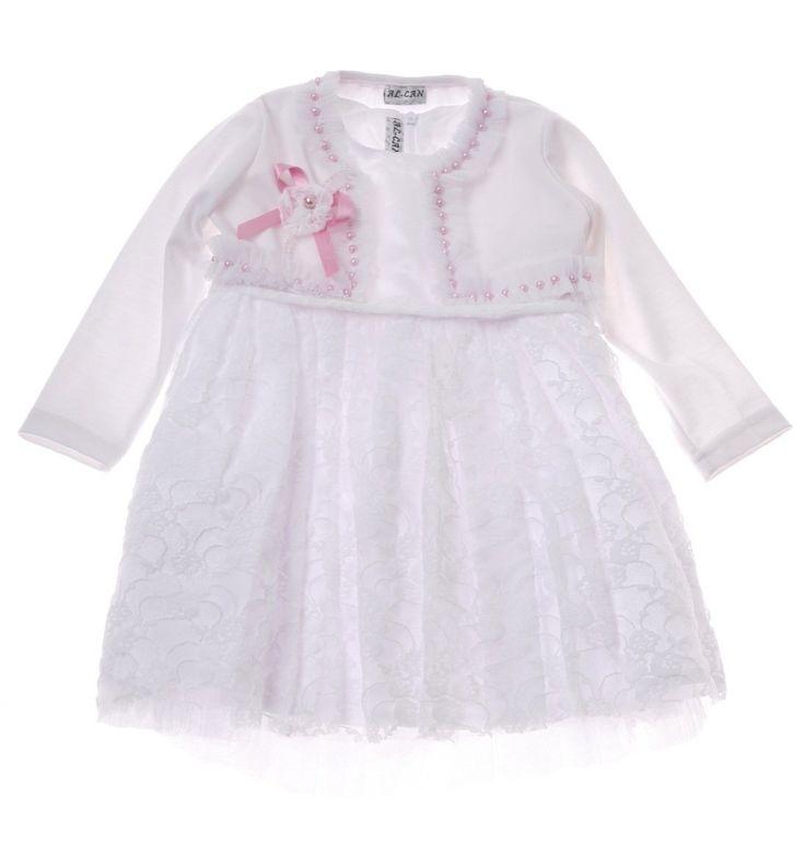 Al Can αμπιγιέ φόρεμα με μπολερό «White Lace»  €44,00