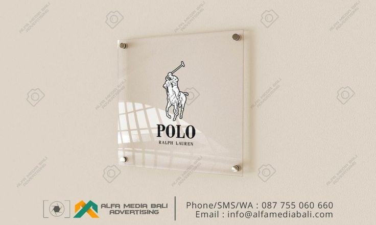 Acrylic sign di bali | Alfa Media Bali
