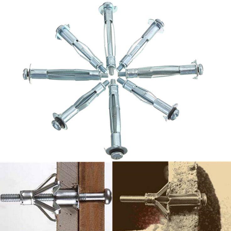 10Pcs Metal M4 Placa Tablero Drywall Cavity Wall Anchors Brolly Plug Fixings herramienta