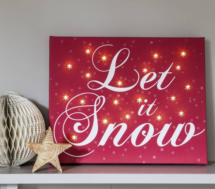 christmas illuminated canvas by the letteroom | notonthehighstreet.com