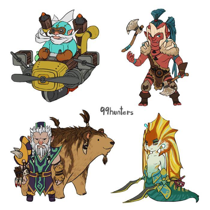 #Dota2 - Mini Radiant AGI heroes part 3 by spidercandy.deviantart.com on @deviantART