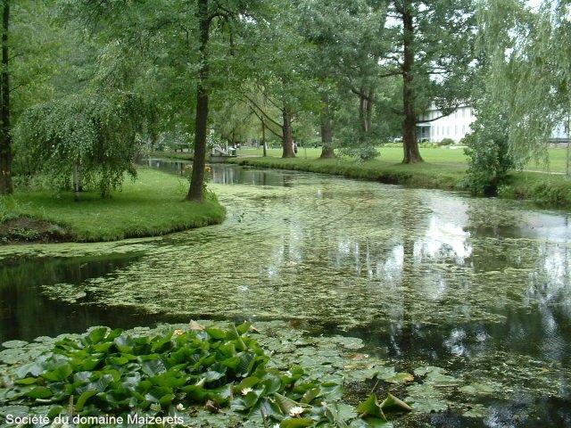 L'anneau d'eau en été du Domaine de Maizerets
