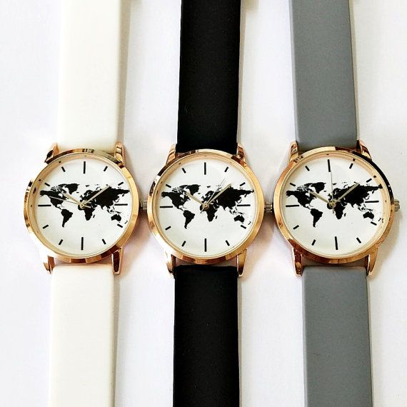 Map Watch Watches Women Mens Ladies Watch Vintage by FreeForme