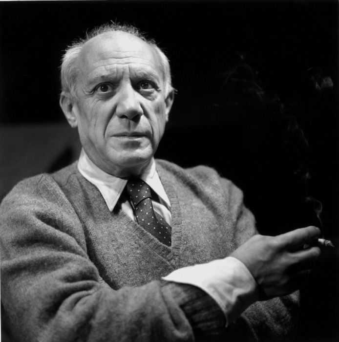 Robert Doisneau // Circa 1950. Pablo Picasso, Spanish Painter And Sculptor