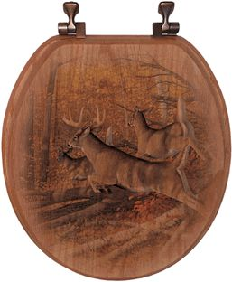 Buck and doe toilet seat