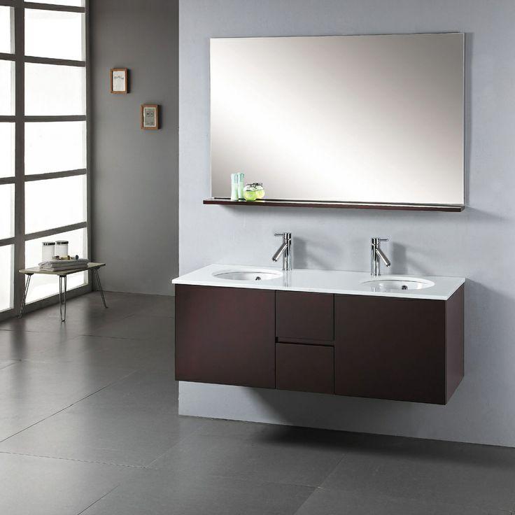 Virtu USA Matteo 51 Inch Double Sink Bathroom Vanity Set | Overstock.com  Shopping