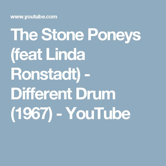 The Stone Poneys (feat Linda Ronstadt) - Different Drum (1967) - YouTube