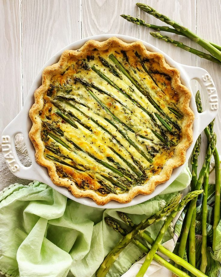I was going to just share the recipe for the quiche that we are eating right now: Four Cheese Quiche with Asparagus, Fid…