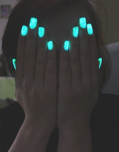 i own a glow in the dark nailpolish, and it charges pretty much in the light, so the birghter light your nails have been in, the longer they last and the brighter they are.
