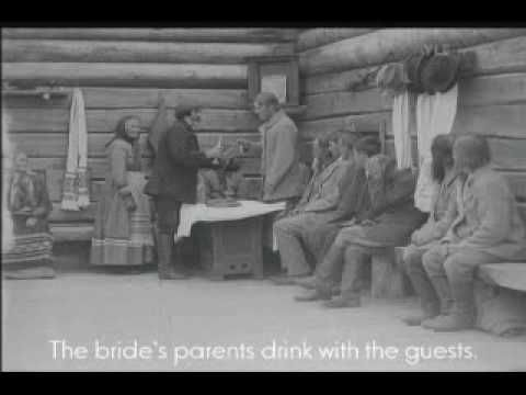 This is fantastic...especially the men busting a move for the women. // Karelian Wedding (1921) 1/3 The Proposal - YouTube