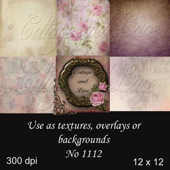 Digital Backgrounds, Digital Textures, Digital Overlays, Digital Paper Pack No. 1112