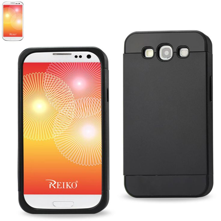 Reiko Tpu+Pc Protector Cover With Interior Card Holder Samsung Galaxy S3 I9300 Black