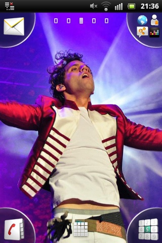 Mika jumping @ Benidorm Low Cost Festival, Spain July 22 2011