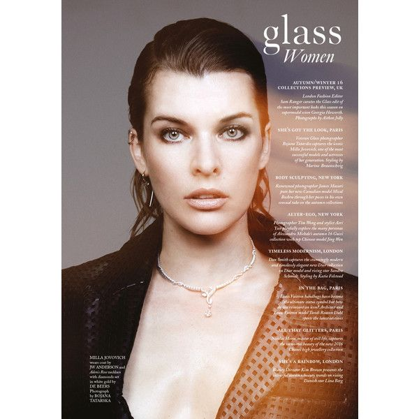 Милла Йовович для Glass Magazine ❤ liked on Polyvore featuring home, home decor, small item storage and glass home decor