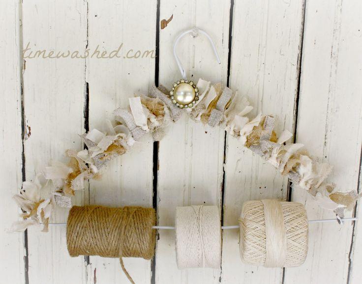 TIMEWASHED-string holder: Tutorials, Diy Crafts, Ribbon Holder, Fun, Craft Ideas