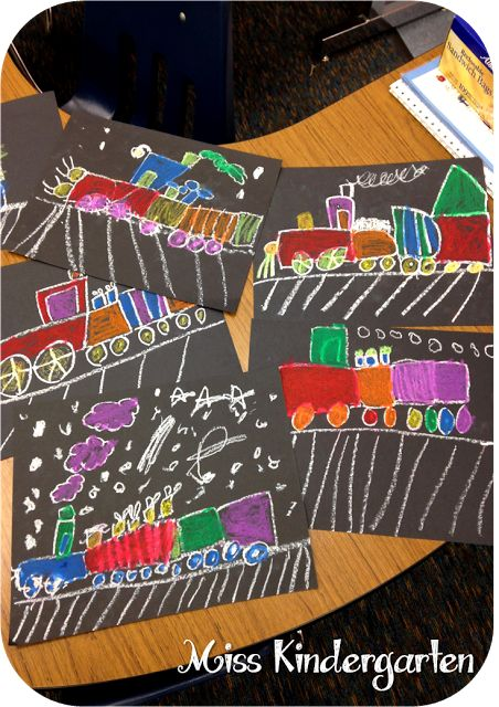 Miss Kindergarten: Polar Express directed drawing