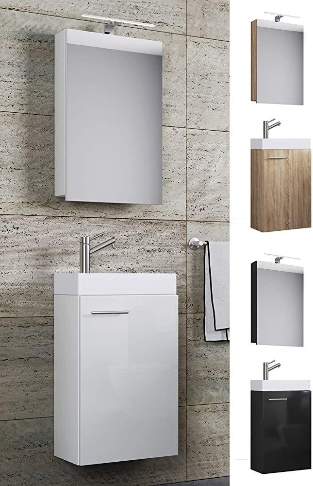 Vcm Waschplatz Waschbecken Schrank Spiegelschrank Wc Gaste