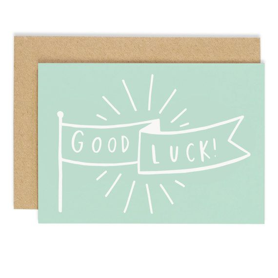 Good Luck Banner Card - good luck card - CC77