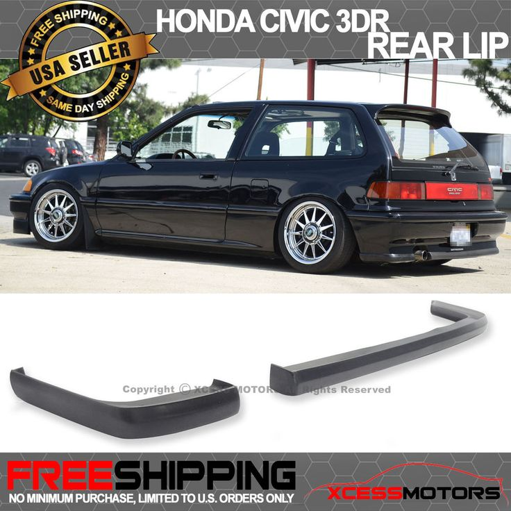 1988-1991 Honda Civic 2Dr/3Dr Hatchback only. Style ikon style. Bumper lip will only fit on original factory bumper. Package 2pcs of rear bumper lip. Material high quality poly-urethane(pu)