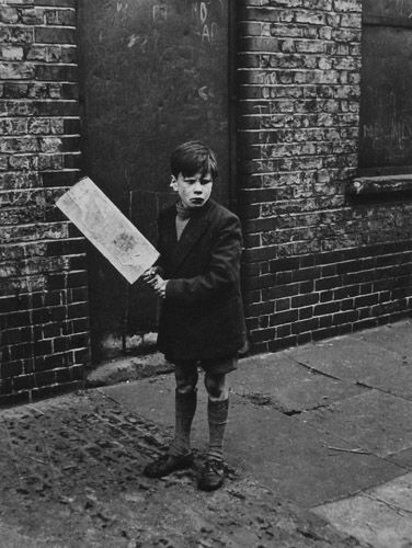When cricket bats were planks and the wicket was cobbles. (Cricket, Addison Place,North Kensington, 1957 by Roger Mayne)