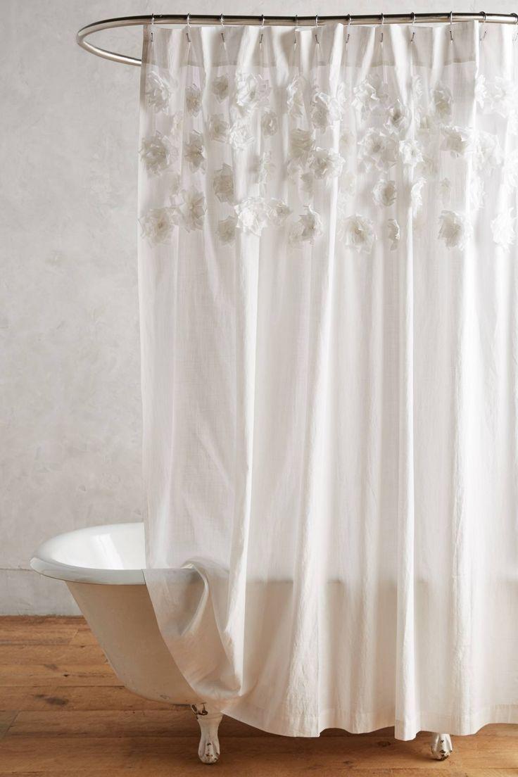 Grayson silver gray jacquard fabric cloth bathroom bath shower curtain - Georgina Shower Curtain