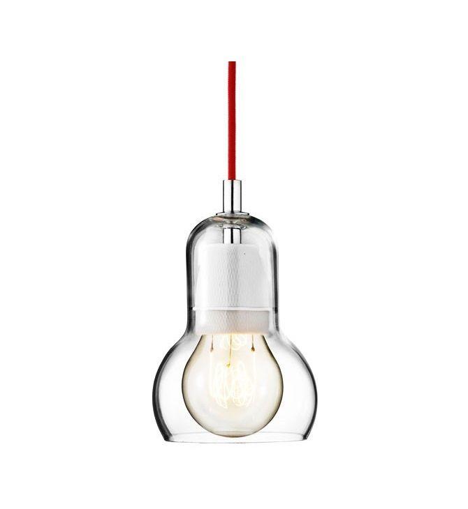 &Tradition hanglamp glas bulb - Rood snoer vind je bij Hanglampgigant.nl. ✓ Snelle levering ✓ Veilig bestellen ✓ Gratis bezorging! Onderdeel van Verwek.