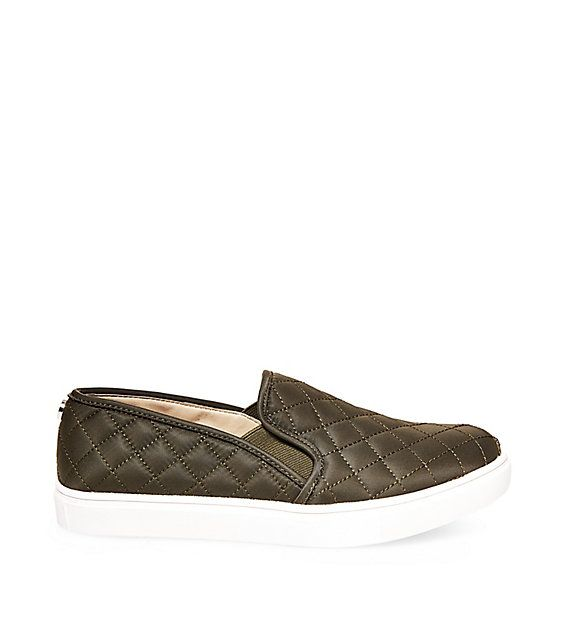 Slip into ECNTRCQT by Steve Madden for a casually polished look. Quilted  slip on sneakers are a perfect alternative to flats, great for everyday and  travel.