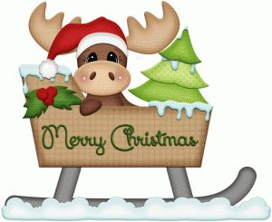 Silhouette Online Store - View Design #50960: moose in sleigh christmas print and cut