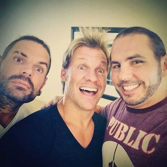 Jeff & Matt Hardy with Chris Jericho