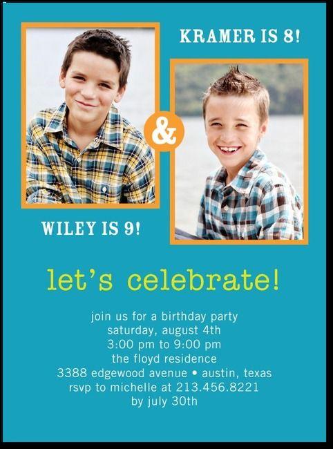 Best 25 Double birthday parties ideas – Tiny Prints Birthday Party Invitation
