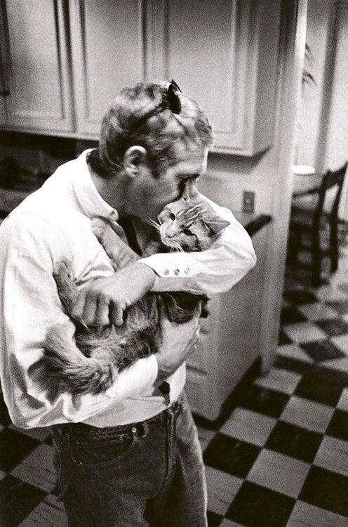 Steve McQueen and friend.
