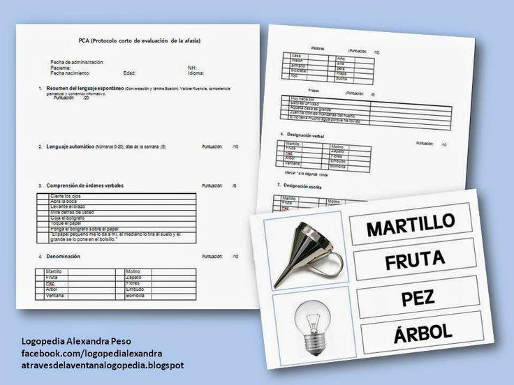 Protocolo corto de evaluación de la afasia (PCA)