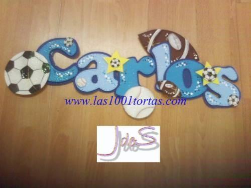 Decoracion de fiestas infantiles nombres letreros en foami for Cuartos para ninas decorados