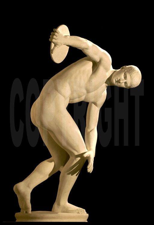 Due à sa parfaite représentation gestuelle, la statue du discobole de Myron est l'une des plus célèbres œuvres d'art représentant le sport antique grec. Musée du Vatican à Rome.