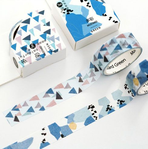 Blue Print Washi Tape Set by TaylorsworldHandmade on Etsy
