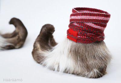 Nutukkaat eli karvakengät poron koivista. Tämän miellyttävämpiä kovan pakkasen kenkiä tuskin löytyy mistään! http://www.haaraamo.fi
